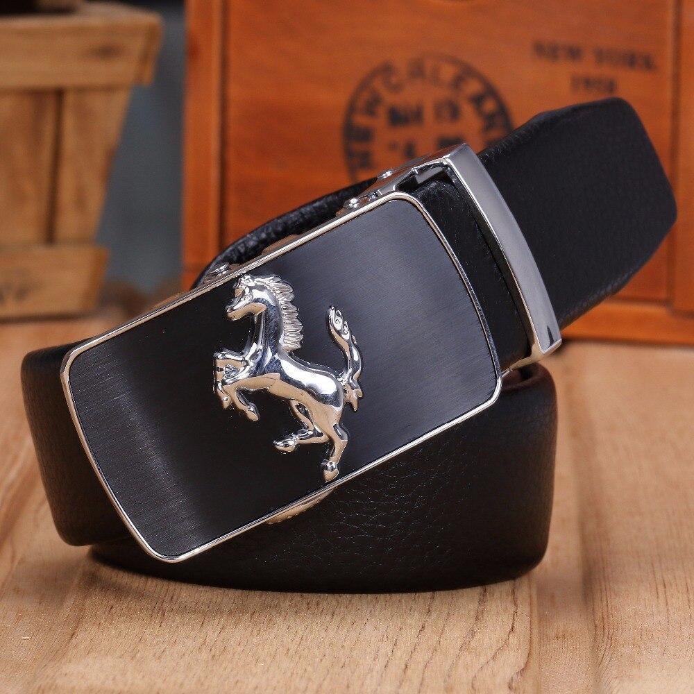 Men Belt Automatic-Buckle Horse-Jaguar 160-Horse Plus-Size High-Quality 140cm Luxury