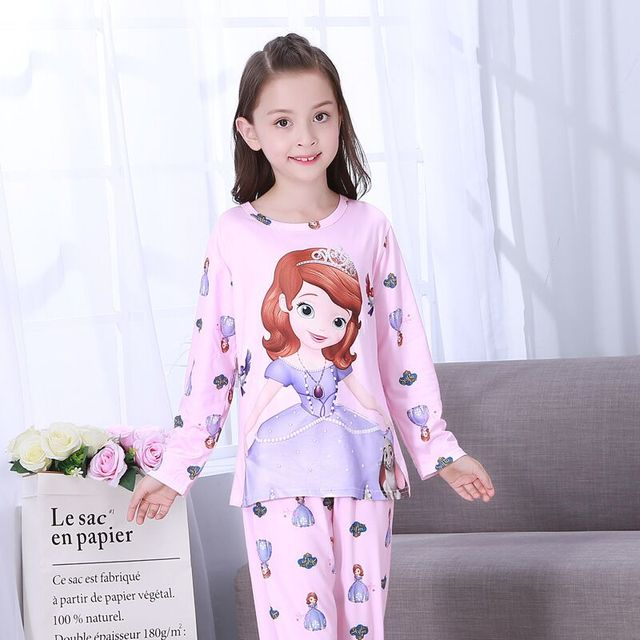 New Listing Children Clothing Autumn Winter Girls Baby Pajamas Cotton  Princess Nightgown Kids Home Cltoh Boys Sleepwear Set TY05 53ca1a3c4