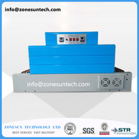 Electrical heat tunnel shrinking machinery,package wrapping packing equipment for food,cosmetic etc packer