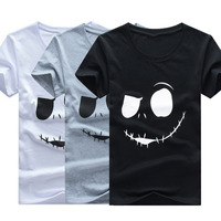 Fashion Men T Shirt Short Sleeve Tee Face Printing T Shirts Casual Fitness Summer Style Tops