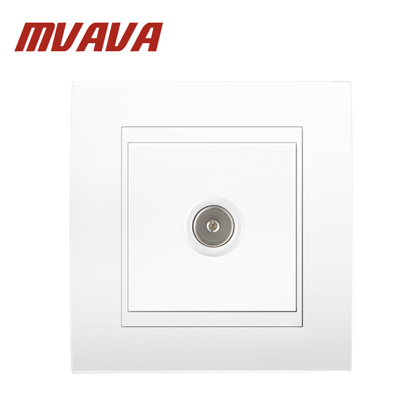 Free shipping MVAVA Television TV wall socket, universal Electric Home Office Aerial  Plug outlet,directly from factory!