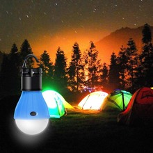 1 個ミニ屋外夜の光キャンプテント LED 電球防水ぶら下げフック緊急ランプキャンプや釣りランプ使用 3 * AAA