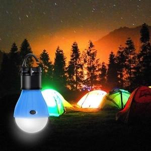 Image 1 - Miniluz de noche para exterior, 1 Uds., bombilla LED para tienda de acampar, impermeable, gancho colgante, lámpara de emergencia para acampar o lámpara de pesca, uso 3 * AAA