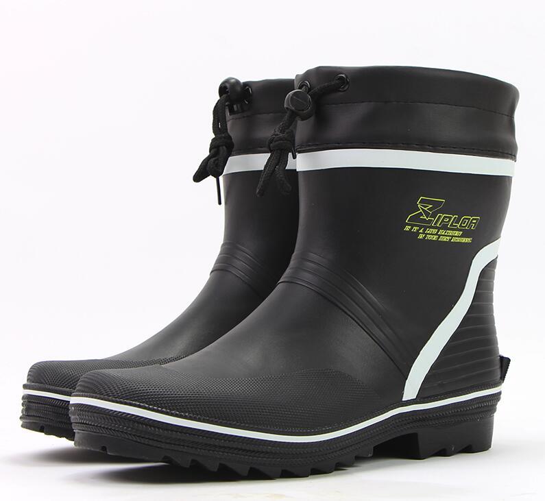YIDAKU En Caoutchouc Pluie Bottes Hommes Hiver Chaussures de L'eau De Pluie En Pvc bottes Non-slip Patauger Chaussures pour Hommes Chaussures De Pêche Plus La Taille 46