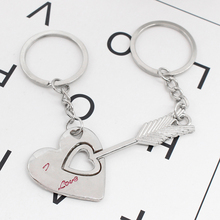 2Pcs/Set Couple I LOVE YOU Heart Keychain Splice Keyring