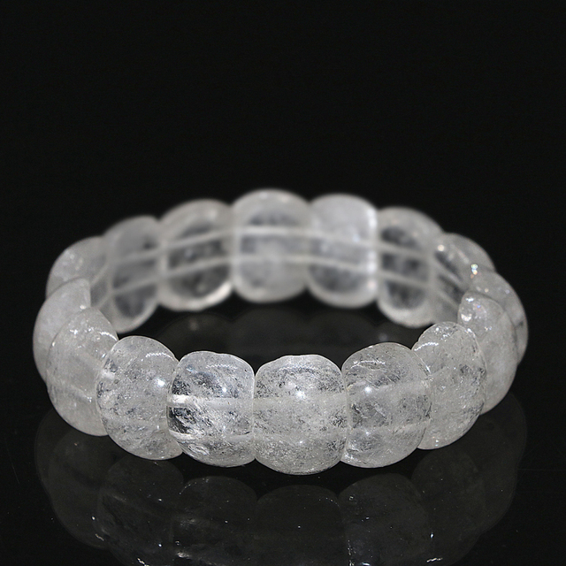 Natural white quartz crystal bracelet for women 13*18mm rectangle beads wholesale retail elegant chain jewelry 7.5inch B1686