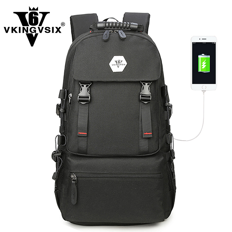 VKINGVSIXV6 Large Waterproof Travel USB Laptop backpack men school bags for teenagers boy Women back pack female schoolbags jacodel unisex large capacity backpack for 15 6 inch laptop bag for dell asus 15 6 men 15 6 girls travel back pack school bags