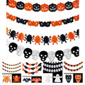 2015 New Arrive 1pcs Halloween holiday party venue background decoration festoon, pumpkin bat ghost spider funny paper garland