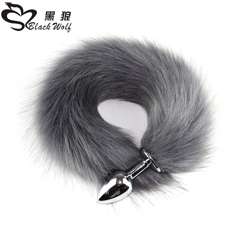 Metal <font><b>Plug</b></font> Long Anal <font><b>Plug</b></font> <font><b>Sex</b></font> <font><b>Toy</b></font> Animal Role Play Cosplay Fox Tail <font><b>Sex</b></font> Products Shop Sexy <font><b>Butt</b></font> <font><b>Plug</b></font> Adult Accessories image