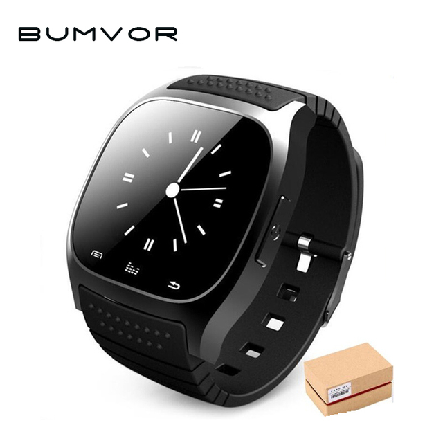 Waterproof Smartwatch M26 Bluetooth Smart Watch With LED Alitmeter Music Player Pedometer For Android
