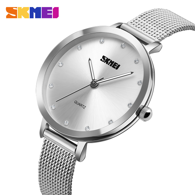 Watches Women Luxury Brand Watch SKMEI Quartz Wristwatches Fashion Sport Stainless Steel Casual Watch relogio feminino new famous brand fashion casual women watches roman numerals quartz watch women stainless steel dress watches relogio feminino