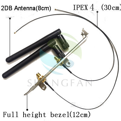 SMA WIFI Antenna IPEX1 / IPEX4 To SMA Wireless Network Card 2DB/8DB Antenna Full Height / Half Height Bezel