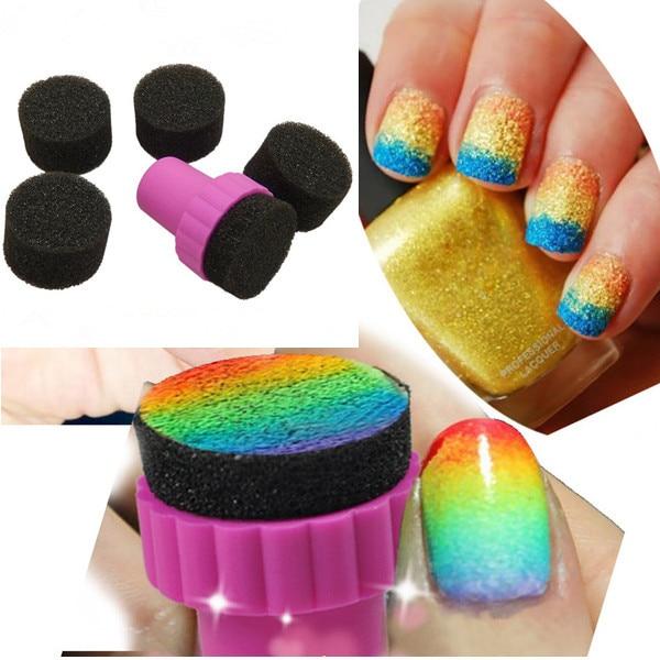 Nail Art Tools Gradient Nails Soft Sponges for Color Fade Manicure ...