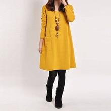 Plus Size Vintage Long Sleeve Maternity Dress