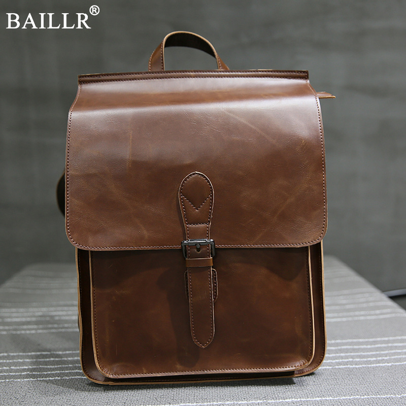 2018 New men fashion Vintage backpack male travel backpack school Simple design men PU leather business bag shopping travel bags yeetn h 2017 new ma n backpack grain pu leather black fashion backpack travel bag for male free shipping y1185