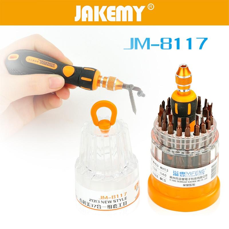 2015 NEW JAKEMY JM - 8117 <font><b>Screwdriver</b></font> <font><b>Bit</b></font> Kit - BLACK AND ORANGE
