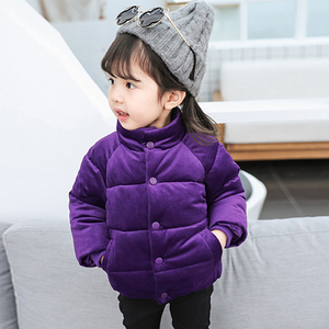 Image 3 - Kids Gold Velvet Down Coat 2018 Winter Baby Girls & Boys Jacket Warm Boys Outerwear Autumn Toddler Kids Clothes 1 2 3 4 5 Years