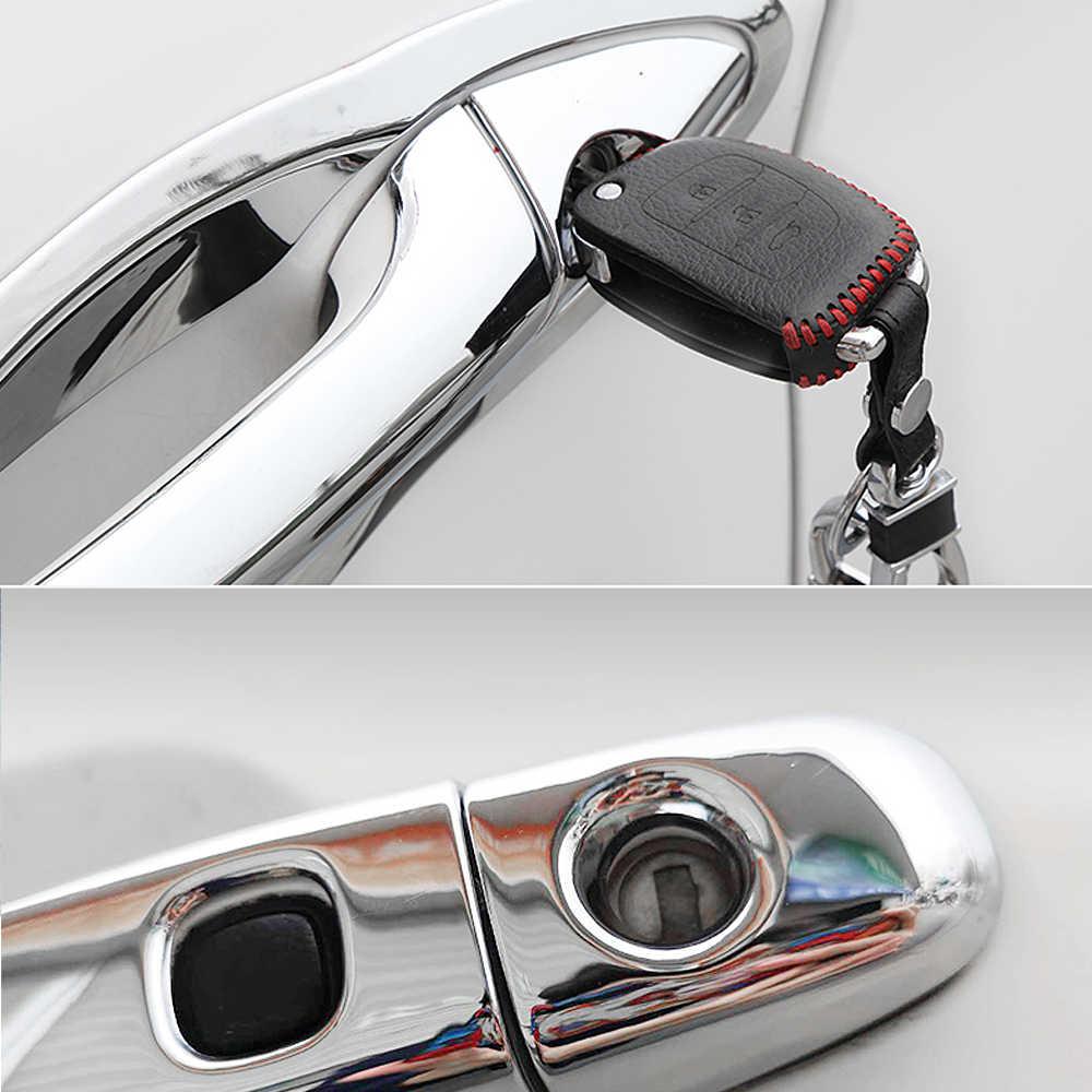 עבור טויוטה לנד קרוזר פראדו 120 J120 L120 2003 ~ 2009 כרום ידית דלת כיסוי אביזרי רכב מדבקות לקצץ סט 2005 2007 2008
