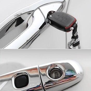 Para Toyota Prius XW20 gira 2004 ~ 2009 cromo Exterior cubierta de la manija de la puerta de coche accesorios pegatinas Trim Set 2005, 2006 2007, 2008