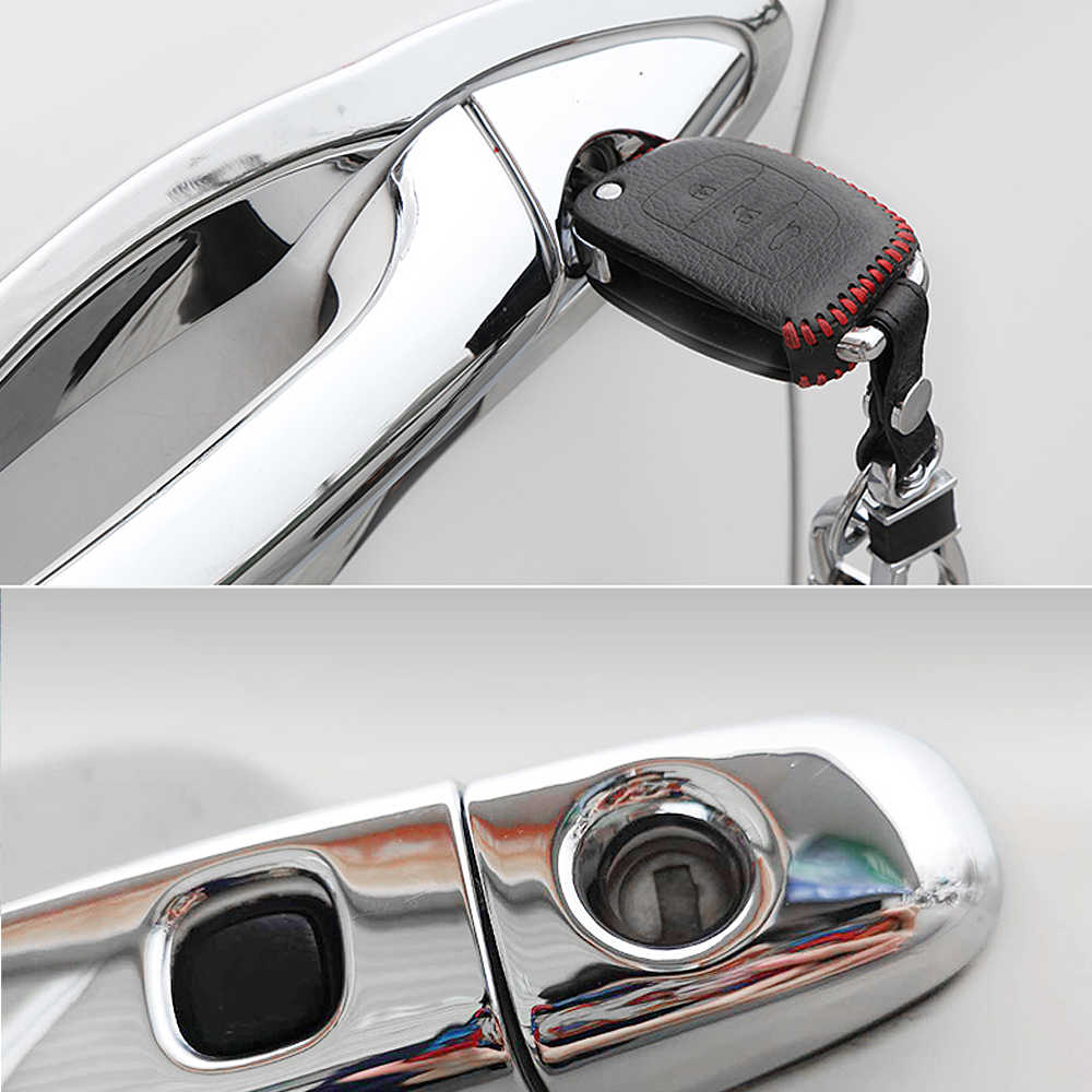 Untuk Kursi Leon MK2 1P FR FR + Cupra 2006 ~ 2012 Chrome Door Handle Cover Aksesoris Mobil Stiker potong Set 2007 2008 2009 2010 2011