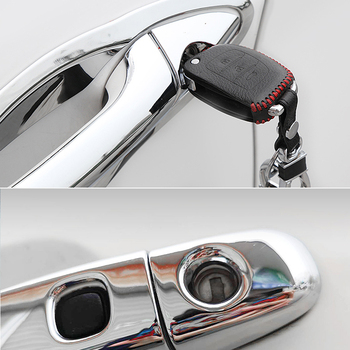 for Toyota Ractis Verso-S Space Verso Subaru Trezia 2011~2017 Chrome Door Handle Cover Car Accessories Stickers Trim Set 2016