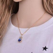 2019 Jewelry Sets Vintage Style Water Drop Pendant Zinc Alloy Rhinestone Earrings Female Ring Pendant Necklace Set Gift Box A362 цена в Москве и Питере