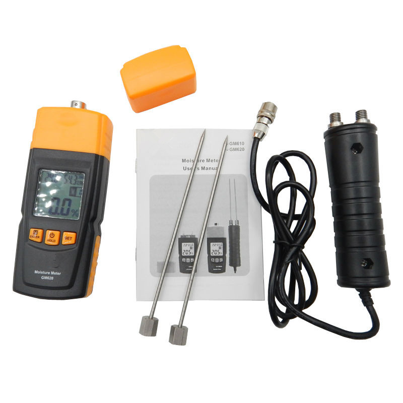 High Quality Digital LCD Display Wood Moisture Tester GM620 Portable Moisture Meter 2~70% Humidity Tester Timber Damp Detector - 6