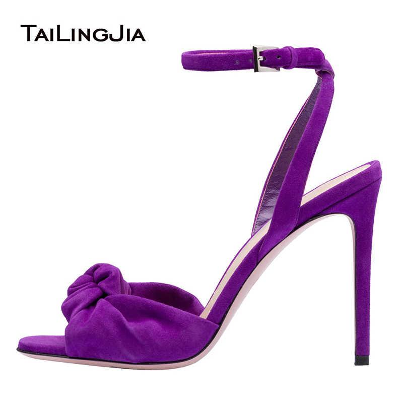 faux suede wraparound platform heels