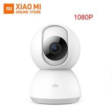 Корабль из России 2019 обновлен Xiaomi Mijia 360 Угол веб-камера видеонаблюдения 1080 P HD Smart IP камера Ночное Видение безопасности домашняя камера с Wi-Fi