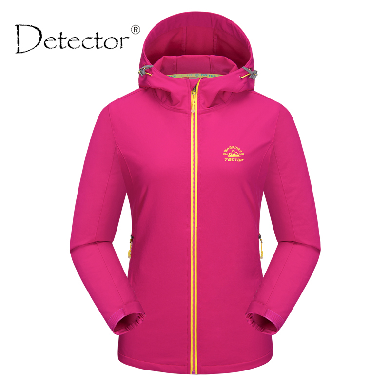 Detector Outdoor Women Climbing Camping Hiking Jacket Waterproof Windproof Thermal Windbreaker Spring Autumn Warm Coat conan doyle a round the red lamp and other medical writings