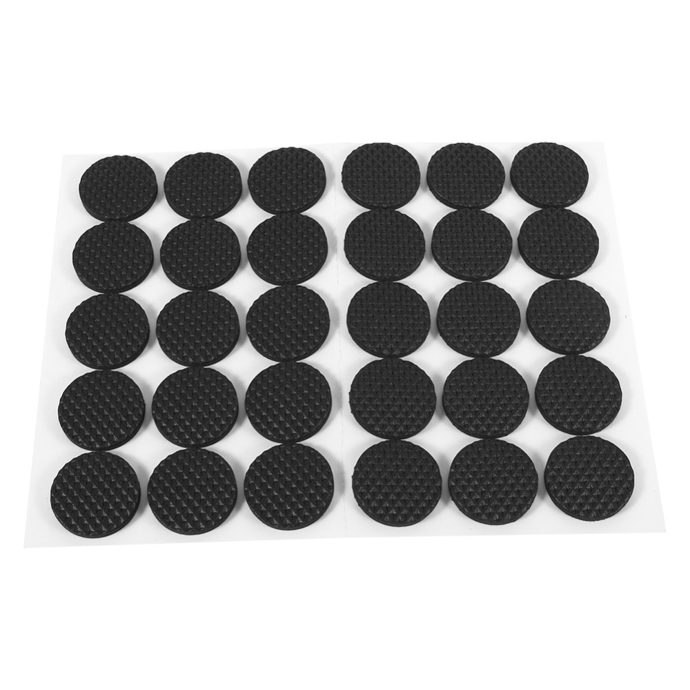 48pcs/30pcs/12pcs/lot RoundChair Rubber Feet Pads Black Non-slip Self Adhesive Floor Protectors Furniture Sofa Table Pads