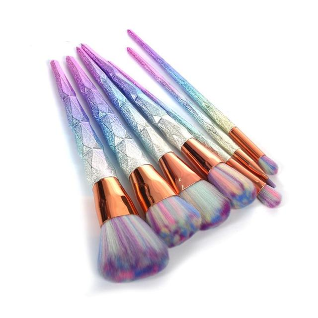7Pcs Diamond Shape Makeup Brush Set