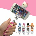 Mini Cartoon Universal Selfie Stick Monopod for Iphone 6 Plus 5s 4S Wired Palo Selfie For SAMSUNG Android IOS Camera Para Selfie