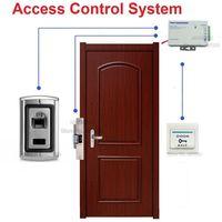 Fingerprint Door Access Control System Kit Strike Lock Power Supply Switch