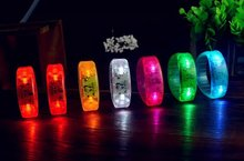 Activated Sound Control Led Flashing Bracelet Light Up Bangle Wristband Club Party Bar Cheer Luminous Hand Ring Glow Stick