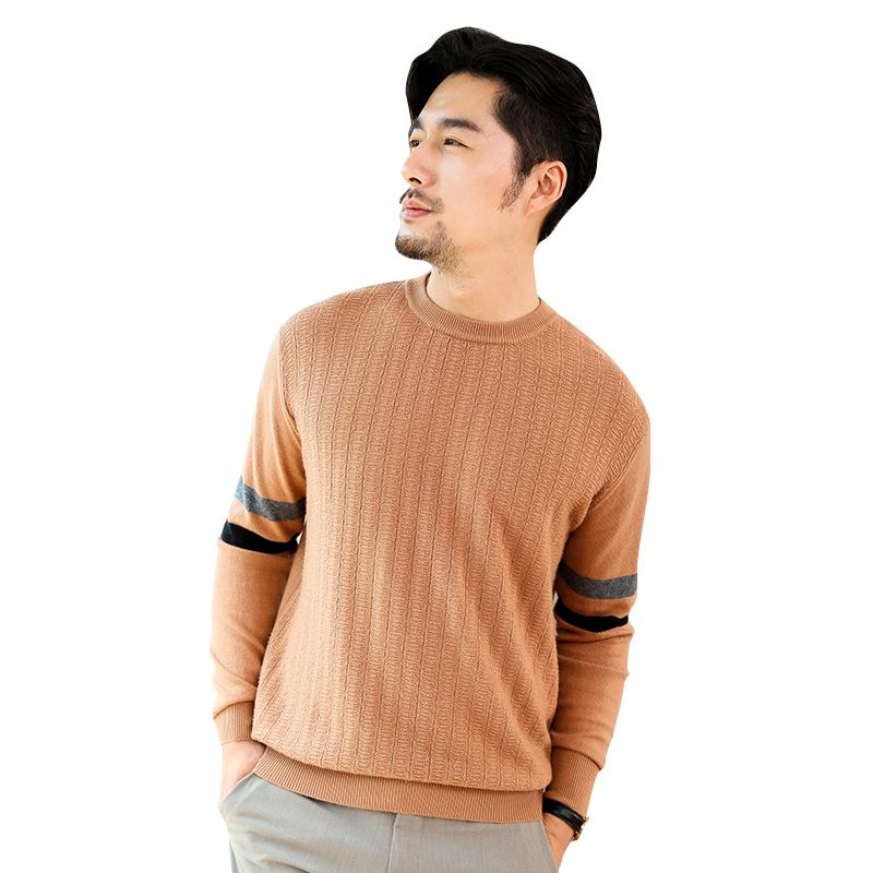 Hot Sale Man Jumpers 100% Cashmere And Wool Knitting Sweater Pullover Winter New Fashion Woolen Standard Clothes Men Knitwears