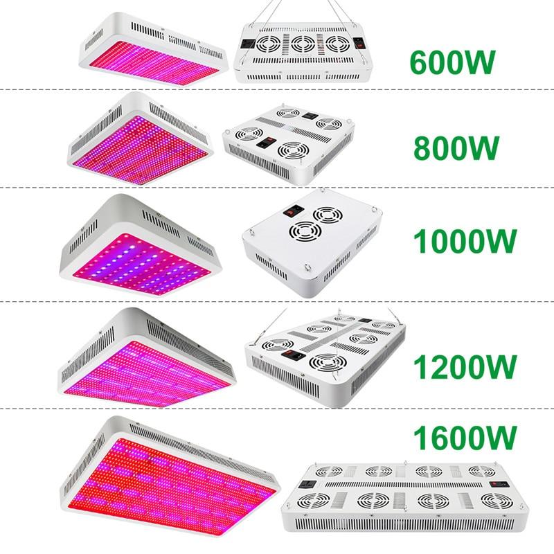 LVJING Led Grow Light 300/400/500/600/800/1000/1200/1600W Full Spectrum For Indoor Greenhouse Grow Tent Plants Grow Led Light