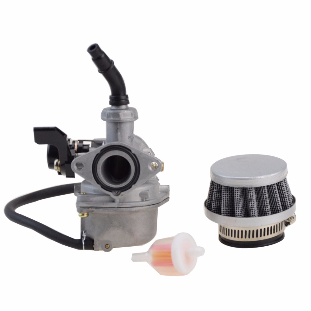 GOOFIT PZ19 Carburetor with Air Filter for Chinese 50cc 70cc 90cc 110cc 125cc ATV Scooter Dirt Bike Group-101 vodool motorcycle 20mm carburetor for pz20 50cc 70cc 90cc 110cc 125cc atv carb moto accessories
