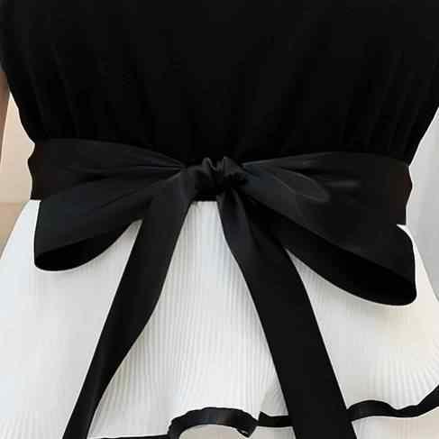 Ichoix Chữ A Xù Miếng Dán Cường Lực Nữ Size Lớn XL 2XL Ngắn Tay Dễ Thương Mùa Hè Plus Kích Thước Áo Dài thanh Lịch