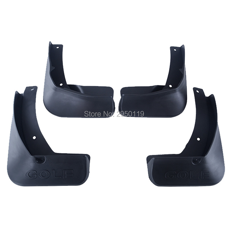 For Vw Golf 7 Mk7 2014 2015 2016 Car-styling Accessories Mud Flaps Splash Guards Cover Car mudguards Fenders Splasher Mudflap car styling 4pc mud flaps splash guards front rear mudguards fit for 06 15 hummer h3 suv offroad paralama mo mo pai