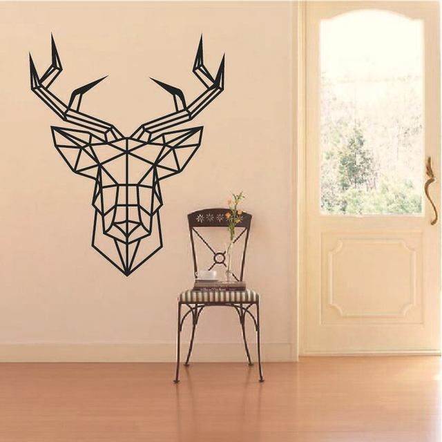 Geometric Abstract Antlers Wall Sticker For Home Decor DIY Personality  Mural Child Room Nursery Decoration Print