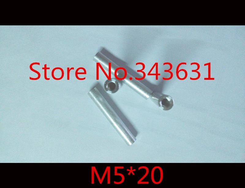 10 Stks/partij M5 * 20 Aluminium Ronde Standoff Spacer Breiden Lange Moer Compleet In Specificaties