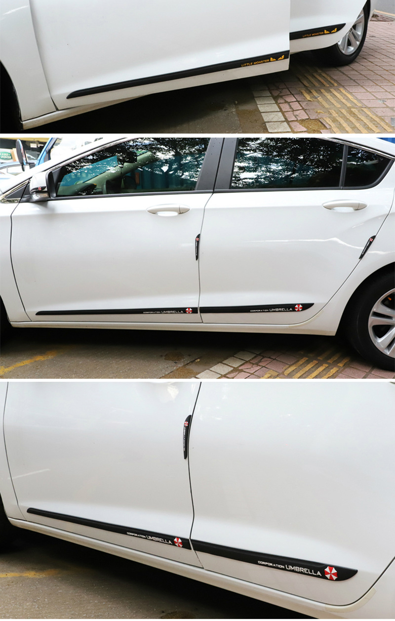 Car accessories styling door decoration strip waist line anti collision strip for Skoda octavia fabia yeti
