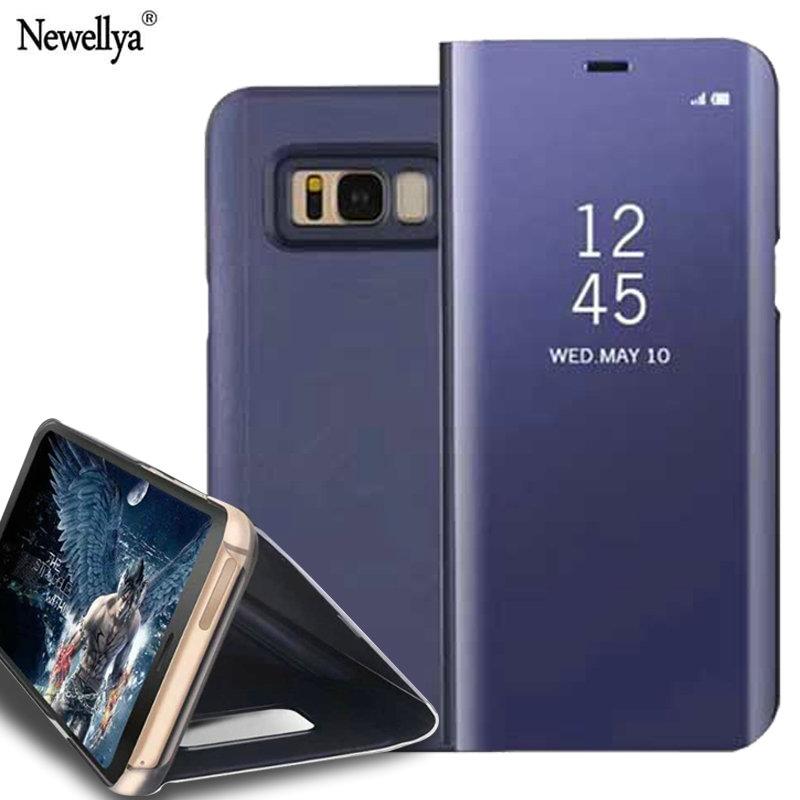 For Samsung Galaxy S8 S8 Plus Case Dirt Resistant 3 Angle Bra Acrylic Mirror Cover Phone