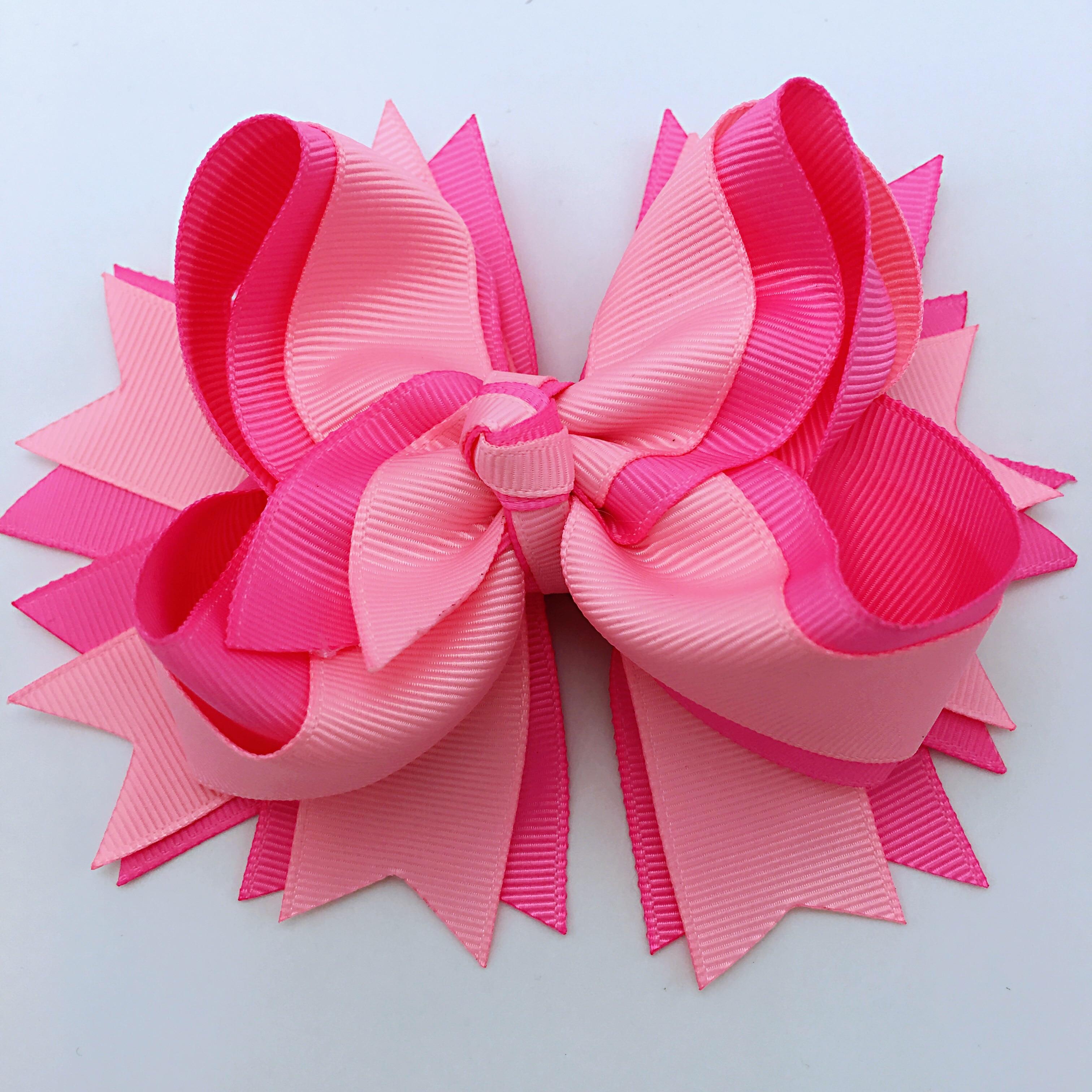 1PCS 5 Inches Solid Hair Bows for Girls Hair Clips Ribbon Bows Hairpins Multicolor Children   Headwear   Hair Accessories