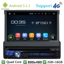 Quad Core 16GB 7 HD 1Din Android 5 1 1 Universal Car DVD Video Player font