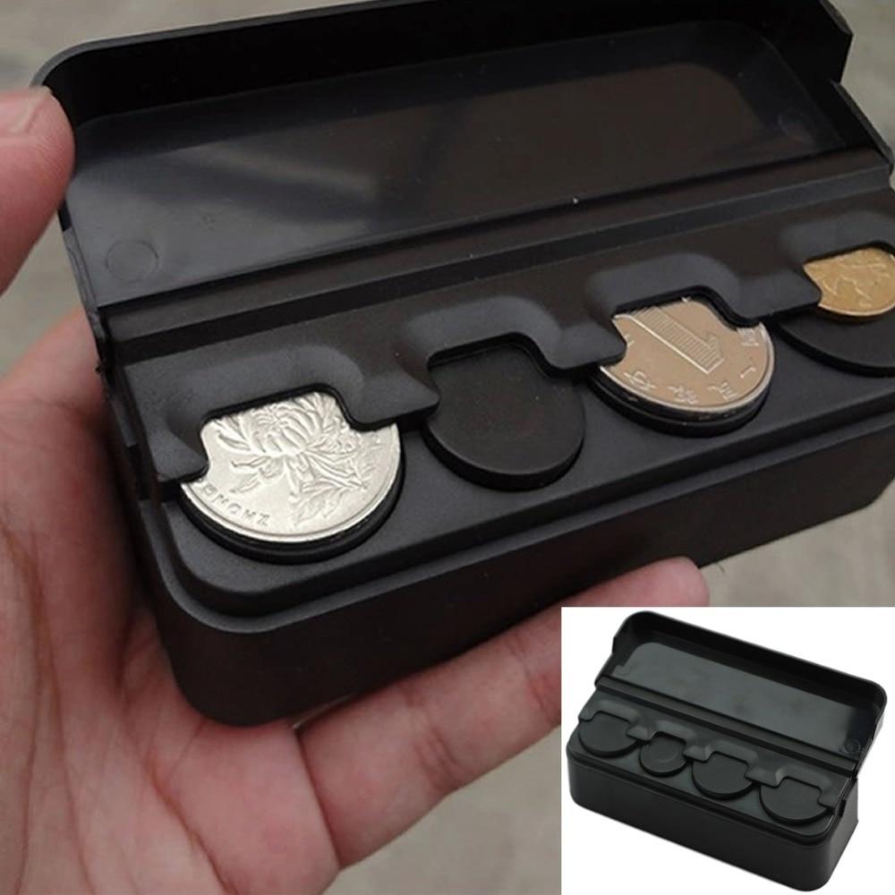Hot Auto Car Coin Pocket Cases Storage Boxes Plastic
