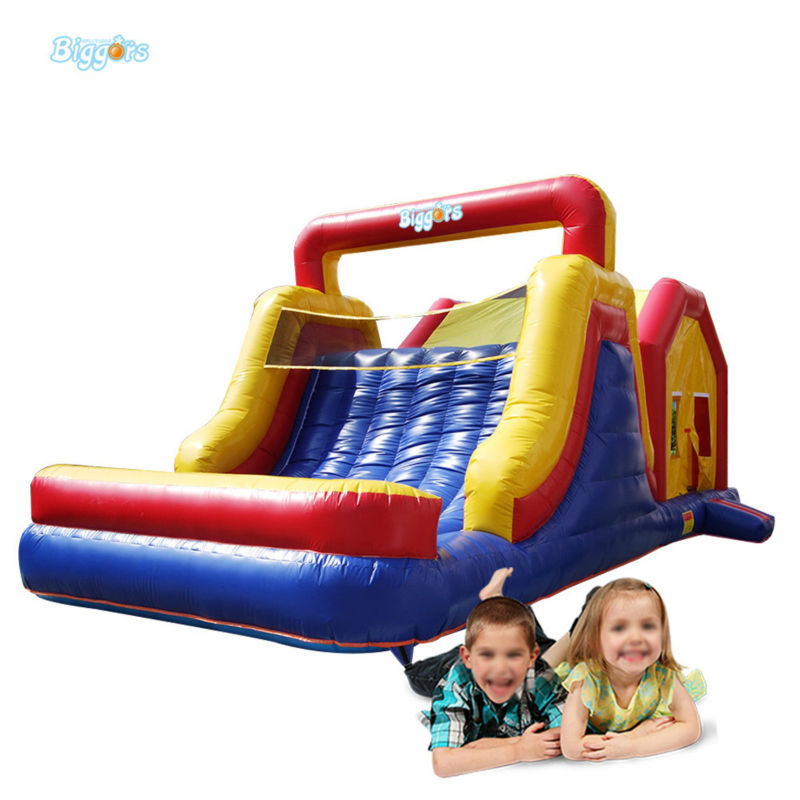 Inflatable Biggors Inflatable Giant Bouncer With Slide For Sale hot manufacturering 7x6x5m customized pvc giant inflatable water slide for sale