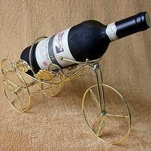 Iron bronze gold wine rack tricycle Aberdeen European fashion Wine bottle rack shelf