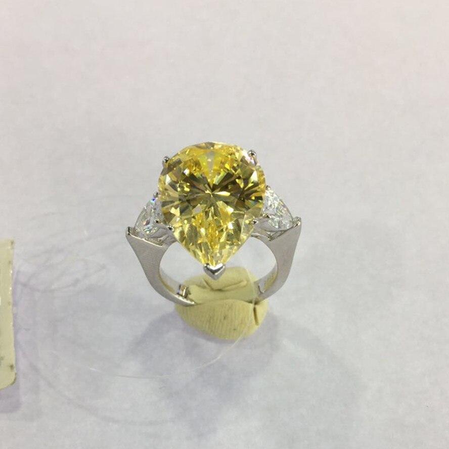 Jewelry Zircon Silver 925-Sterling-Silver Teardrop-Shaped Wedding-Party Xa505 Aaa2 Designer